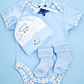 Blue Baby Clothes For Infant Boy by Elena Elisseeva