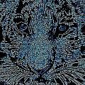Blue Tiger by Wendie Busig-Kohn