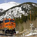 Bnsf Rolls Through Rollins Pass Colorado by Steve Krull