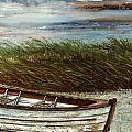 Boat On Shore by Steven Schultz