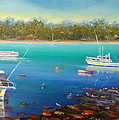 Boats At Merimbula Australia  by Diane Quee