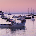 Boats In The Atlantic Ocean At Dawn by Panoramic Images