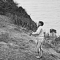 Bobby Jones At Pebble Beach by Julian P. Graham