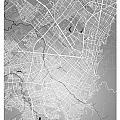 Bogota Street Map - Bogota Colombia Road Map Art On Colored Back by Jurq Studio