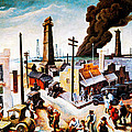 Boomtown by Thomas Hart Benton
