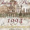 Bordeaux Blanc Label 2 by Debbie DeWitt