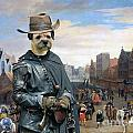 Border Terrier Art Canvas Print by Sandra Sij