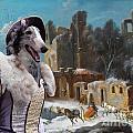 Borzoi - Russian Wolfhound Art Canvas Print by Sandra Sij