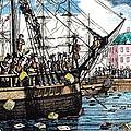 Boston Tea Party, 1773 by Granger