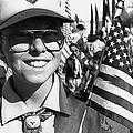 Boy Scout Veteran's Day Parade Tucson Arizona 1990 Black And White by David Lee Guss