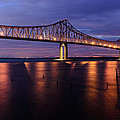 Commmodore Barry Bridge In The Blue Hour by AE Jones