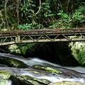 Bridge Over Mountain Stream by Darren Burton