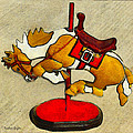 Bucking Bronco Carousel Horse by Barbara Snyder and Keith Zimmerman