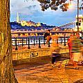 Budapest By Night Paint by Odon Czintos