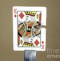 Bullet Piercing Playing Card by Gary S. Settles