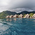 Bungalows Over Ocean by M Swiet Productions