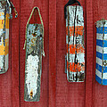 Buoys At Rockport Motif Number One Lobster Shack Maritime by Jon Holiday
