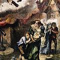 Burning Of Norfolk, 1776 by Granger