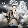 Business Man Planning Work Life Balance Strategy by Jorgo Photography - Wall Art Gallery