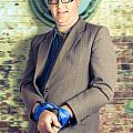 Businessman In Stress With Hands Bound Up by Jorgo Photography - Wall Art Gallery