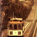 Cable Car In San Francisco by Jill Battaglia