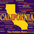 California State Pride Map Silhouette  by Keith Webber Jr