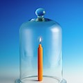 Candle In A Bell Jar by Science Photo Library