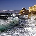 Cape Kiwanda With Breaking Waves by Jim Corwin