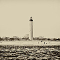 Cape May Lighthouse In Sepia by Bill Cannon