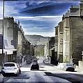 Car In A Queue Waiting For A Signal In Edinburgh by Ashish Agarwal