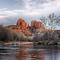 Cathedral Rocks Sunset by Larry Pollock