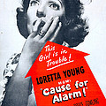 Cause For Alarm, Us Poster, Loretta by Everett