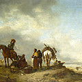 Seashore With Fishwives Offering Fish by Philips Wouwerman