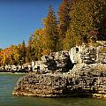 Cave Point County Park Door County Wisconsin by Carol Toepke