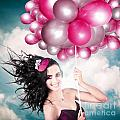 Celebration. Happy Fashion Woman Holding Balloons by Jorgo Photography - Wall Art Gallery