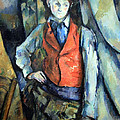 Cezanne's Boy In Red Waistcoat by Cora Wandel