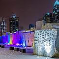Charlotte Queen City Skyline Near Romare Bearden Park In Winter Snow by Alex Grichenko