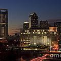 Charlotte Skyline At Night by Jill Lang