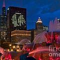 Chicago Blackhawks Skyline by Jeff Lewis