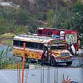 Chicken Bus In El Tizate by Nicki Bennett