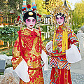 Children Dressed In Full Traditional Chinese Opera Costumes. by Jamie Pham