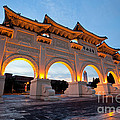 Chinese Archways On Liberty Square In Taipei Taiwan by Fototrav Print