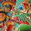 Chinese Temple Detail by Antony McAulay