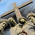 Christ On The Cross With Mourners St. Joseph Cemetery Evansville Indiana 2006 by John Hanou