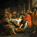 Christ Washing The Apostles' Feet by Peter Paul Rubens