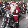 Christmas Toys For Tots Santa On Motorcycle Casa Grande Arizona 2004 by David Lee Guss