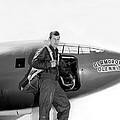 Chuck Yeager And Bell X-1 by Underwood Archives