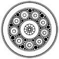 Circle Motif 138 by John F Metcalf