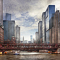 City - Chicago Il - Looking Toward The Future by Mike Savad