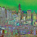 City Garden Art Landscape by Mary Clanahan